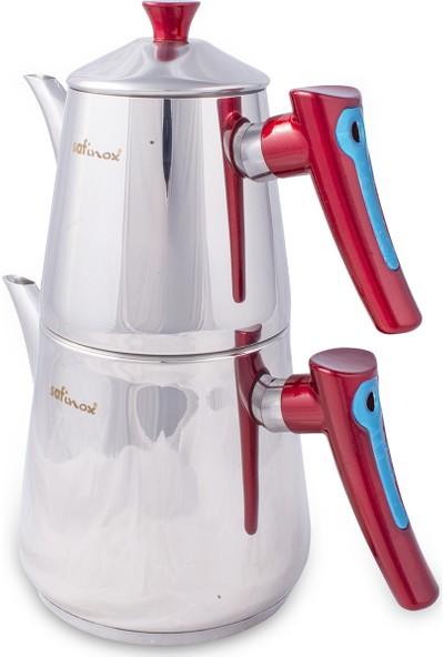 Safinox Vision Orta Boy Çelik Çaydanlık