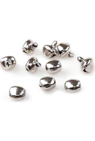 Mir Plastik Amigurumi Zil Çan 12 mm 10 Adet | Gümüş