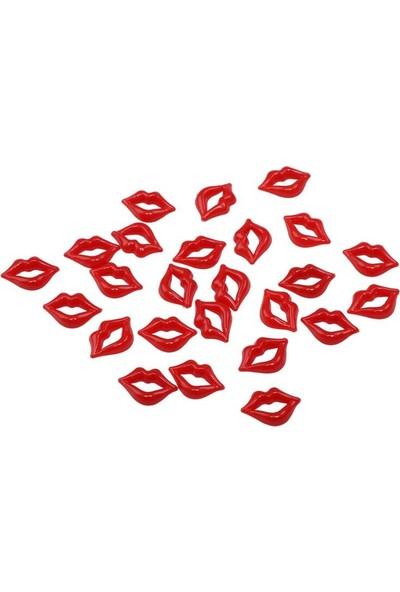 Mir Plastik Amigurumi Dudak 2 cm 25 Adet | Kırmızı