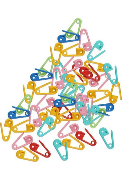 Mir Plastik Plastik Çengelli Iğne 50 Adet | Karışık