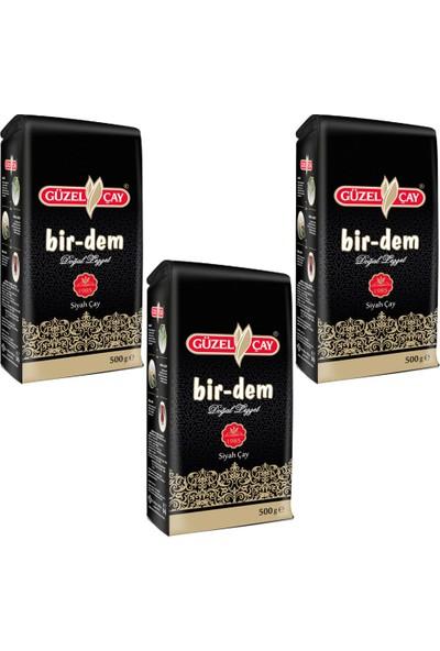 Güzelçay Bir-Dem Siyah Çay 500g Fırsat (x3 adet)