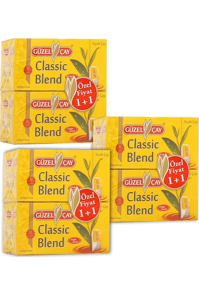 Güzel Çay Classic Blend 2 GR 1+1 25'li Fırsat (x3 adet)