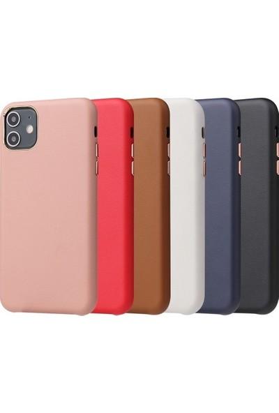 Mobicas Apple iPhone 12 Kılıf Içi Süet Suni Deri Eyzi Silikon+Nano Cam Ekran Koruyucu Beyaz