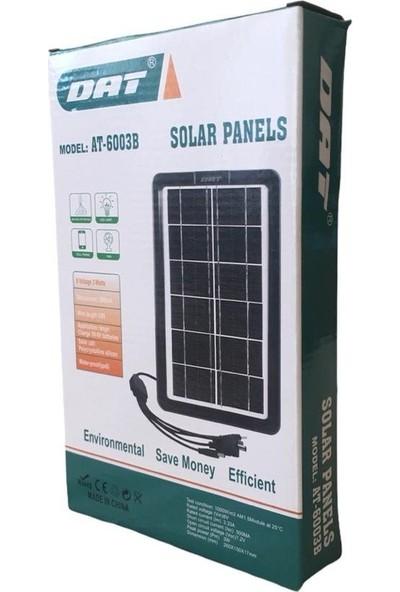 Dat AT-6003B Solar Panel Güneş Enerjili Çok Uçlu Telefon Şarj Cihazı