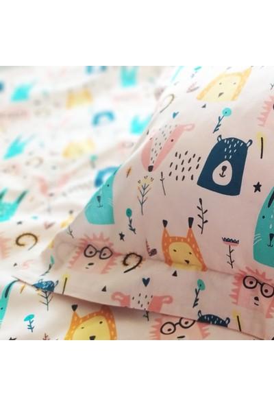 Blue & Pink Wonderland Bebek Nevresim Takımı