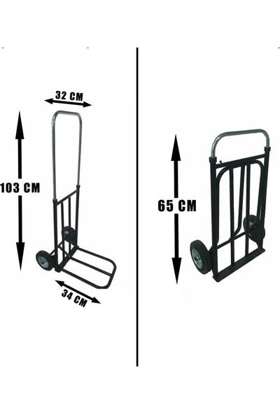 Bir Ortopedi Portatif Koli Paket Taşıma Arabası