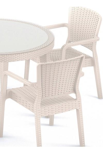 Tilia Antares 2'li Rattan Efektli Koltuk 6 Renk Sandalye