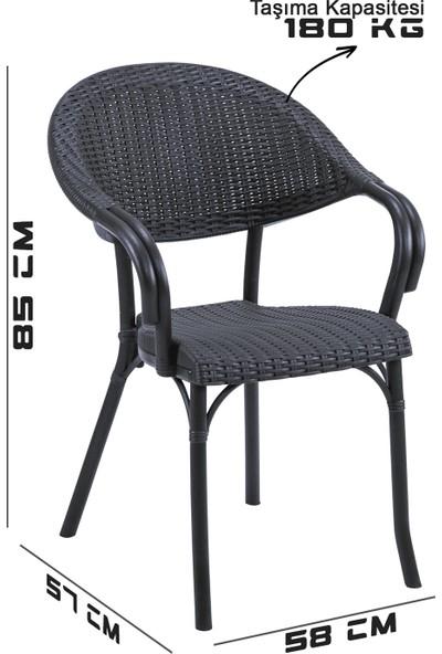 Tilia Flash R 6'lı Rattan Efektli Koltuk Sandalye 6 Renk Seçeneği