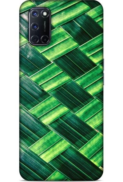Lopard Oppo A72 Uyumlu Kılıf Bahar (37) Silicone Cover Bambu Yaprak