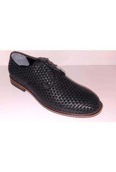 Smash 6004 Erkek Günlük Örme Deri Bağlı Klasik Ayakkabı