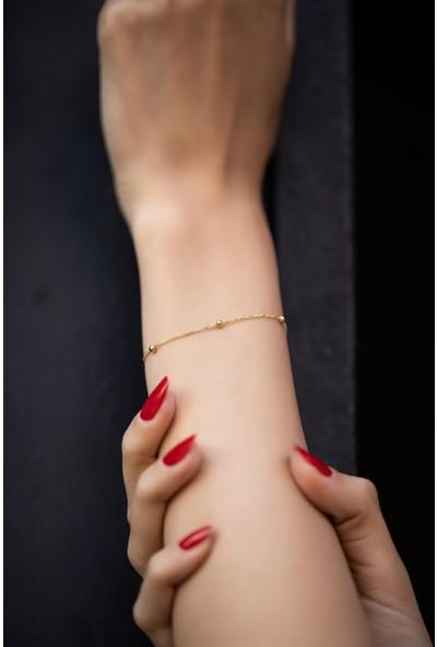 Cosibella Top Model Altın Kaplama Zincir Bileklik