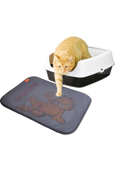 Garfıeld 10 lt Bebek Pudrası Kokulu Bentonit Kedi Kumu (2x10 lt) ve Paspas