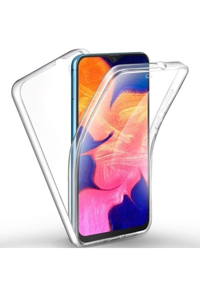Smartberry Huawei Y6 Pro 2019 Kılıf Ön Arka Şeffaf Silikon Koruma Şeffaf