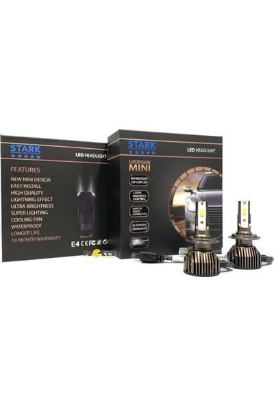 Stark Mini Astra J Uzun LED Xenon Far Ampulü 8000LM 6000K Aparat
