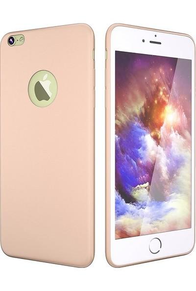 Soffany Apple iPhone 8 Plus Rose (Gül Kurusu) Esnek Polikarbon Rubnice Kılıf Rose