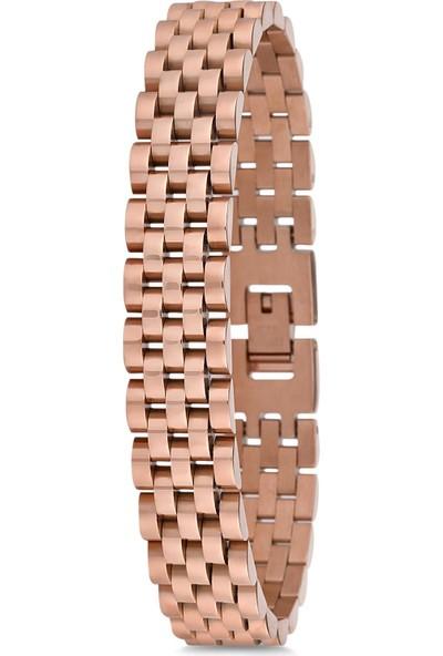 Frnch Çelik Erkek Rose Renk Bileklik FRJ10456-556-C
