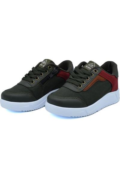 Lisanslı Markalar Erkek Çocuk Fermuarlı Lacivert&haki Spor Ayakkabı