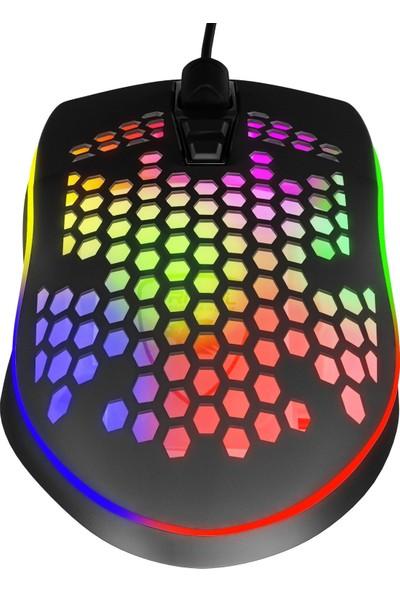 MF Product Strike 0576 RGB Kablolu Gaming Mouse Siyah