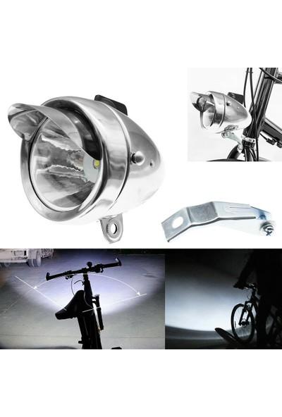 Buyfun Klasik Krom Eski Bisiklet Işık Far Ön Retro Far