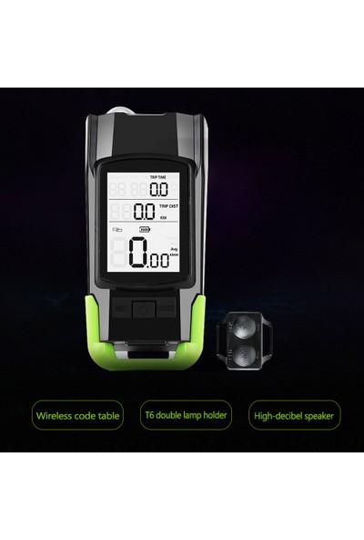 West Biking USB 3'ü 1 Arada Kilometre + Farlar + Korna Bisiklet