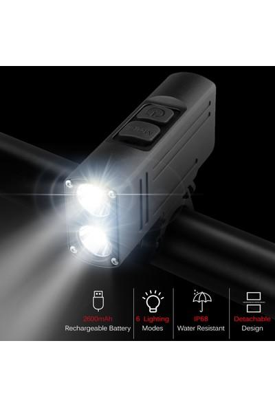 Buyfun Bisiklet Işığı USB Şarj Edilebilir IP68 Suya Dayanıklı