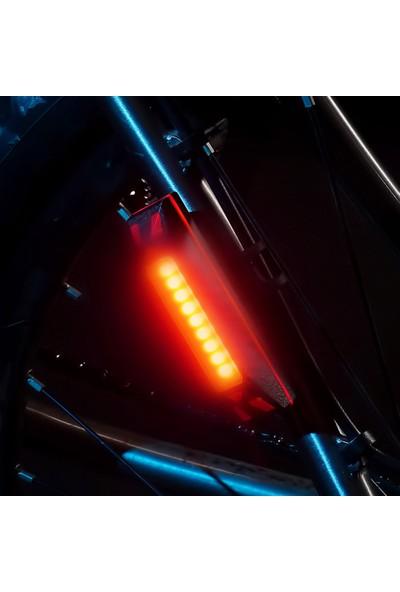 Buyfun Bisiklet Arka Kuyruk Işığı USB Şarj Edilebilir LED