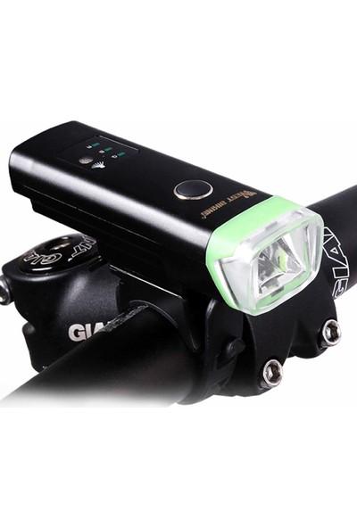 West Biking Batı Bısıkletı Ön Bisiklet Işık USB Şarj Edilebilir