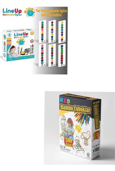 Circle Toys 2 Li Zeka -Strateji Seti (Line Up RİNG-300 Adet Bambu Çubuklar)