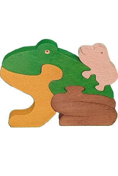 Kırtkırt Ahşap Ahşap Puzzle Kurbağa