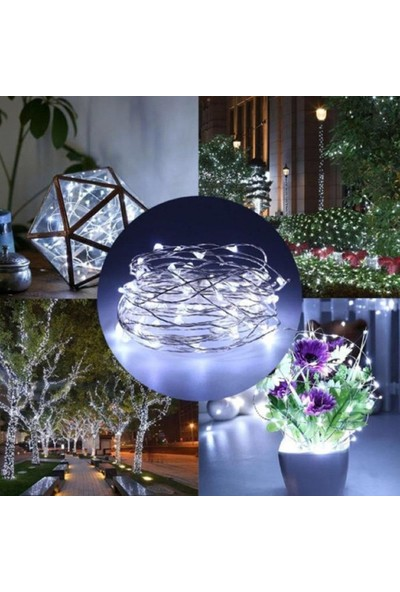 Istoc Trend 3 Metre Pilli Peri LED Ince Tel Pilli Beyaz Işık