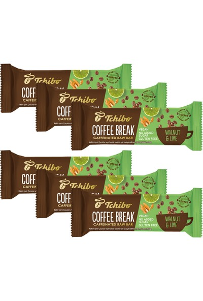 Tchibo Coffee Break - Cevizli & Misket Limonlu Kahveli Bar 40 G x 6