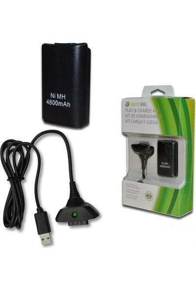 Starx Xbox 360 Gamepad Kol Şarj Kiti Batarya Şarj Kablosu