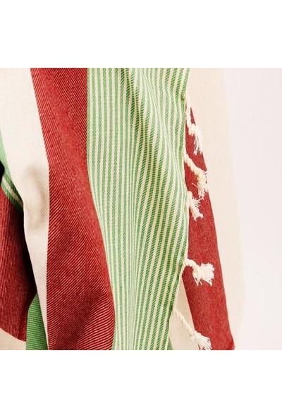 Çapa Home Peştemal 100 x 180 cm Kreme Yeşil Kahve Adet