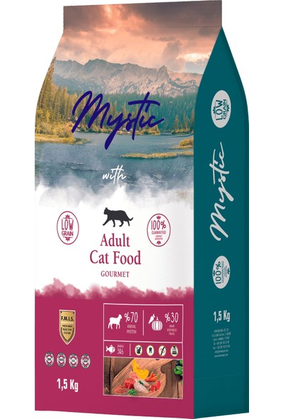 Mystic Düşük Tahıllı 2 Paket Gurme Yetişkin Kedi Maması 1,5 kg