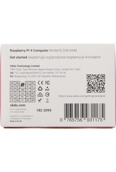 Raspberry Pi 4 Model B 2019 Quad Core 64 Bit Wifi Bluetooth 4GB (Yurt Dışından)