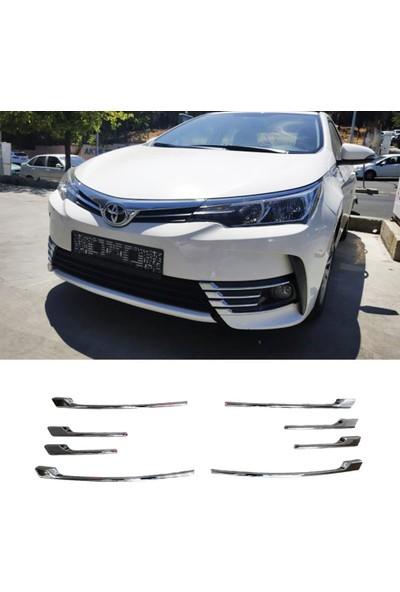 Snt Toyota Corolla Ön Tampon Krom Sis Nikelajı Şeritleri 2016-2018