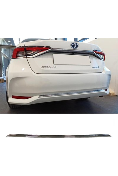 Snt Toyota Corolla Arka Tampon Alt Krom Çıta 2019+