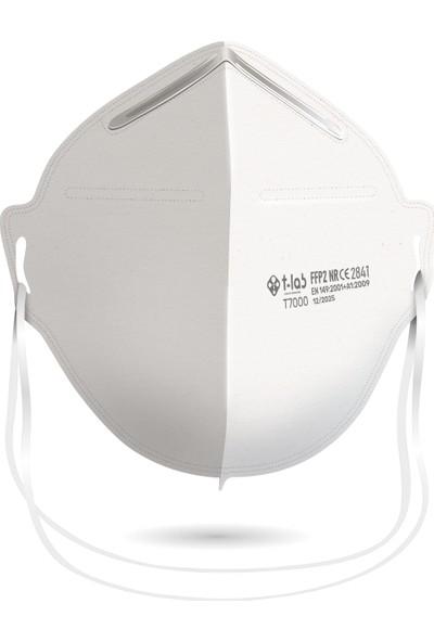 TLAB N95 FFP2 Nr Özellikli Maske / CE ve ISO Sertifikalı / 5 Kutu 12'li Adet