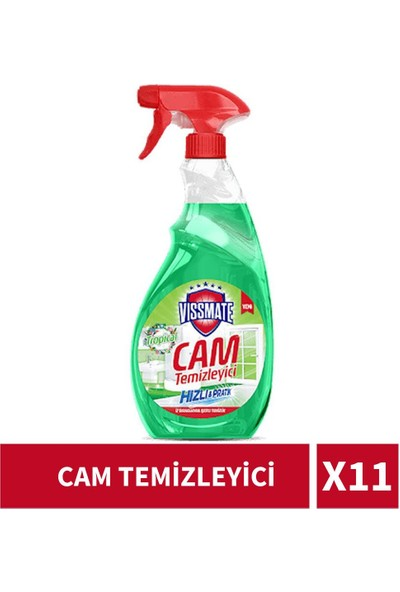 Vissmate Cam Temizleyici 750 ml '11 Adet