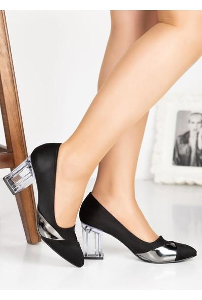 Çaçaroz Klasik Topuklu Büyük Numara Bayan Ayakkabı