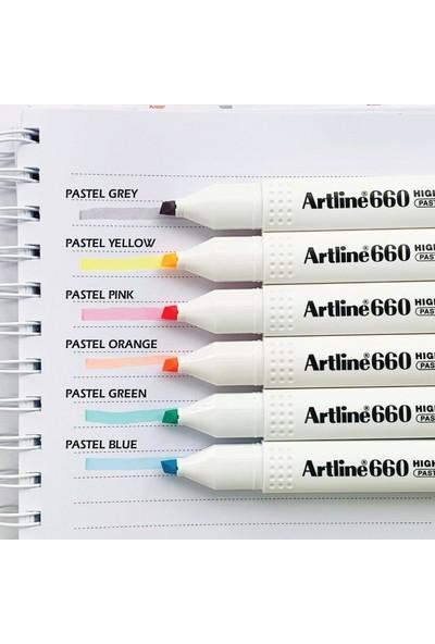 Artline 660 Fosforlu Kalem Pastel Serisi 6 Renk Set