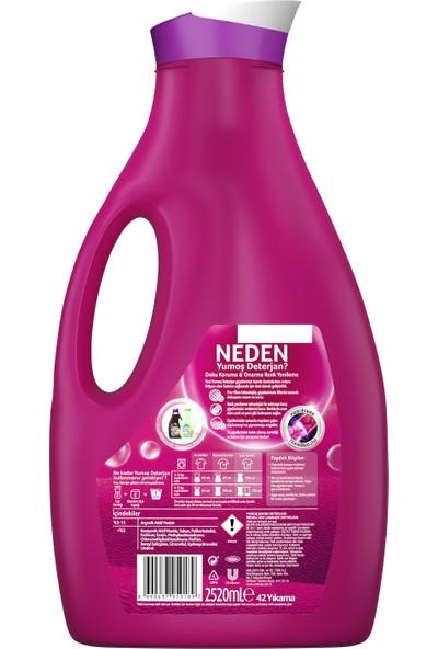 Yumoş Sıvı Bakım Çamaşır Deterjanı Renkli Giysiler İçin Renk Korumada Daha İyisi Yok 2520 ML