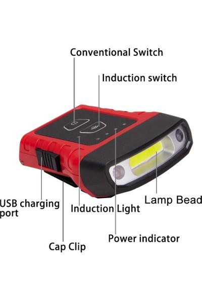 Buyfun Cap Şapka Işığı Dönebilen Far USB Şarj Edilebilir Klipsli (Yurt Dışından)