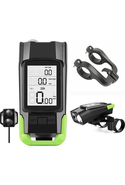West Biking USB 3'ü 1 Arada Kilometre + Farlar + Korna Bisiklet (Yurt Dışından)