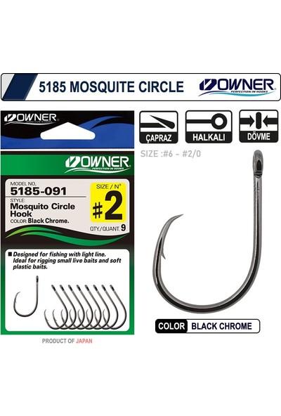 Owner 5185 Mosquito Circle Black Chrome Sinek iğne