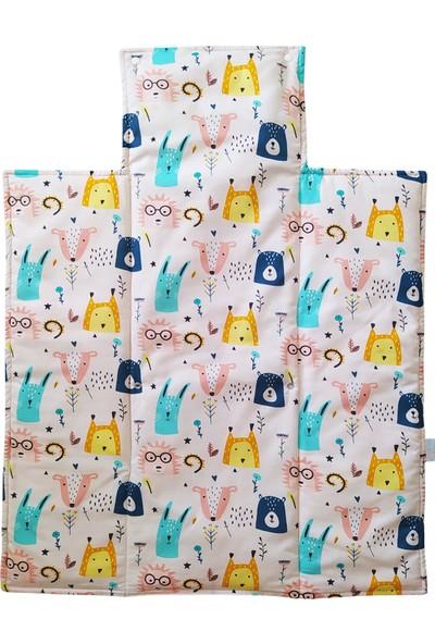 Blue & Pink Wonderland Alt Açma Minderi 55 x 80 cm