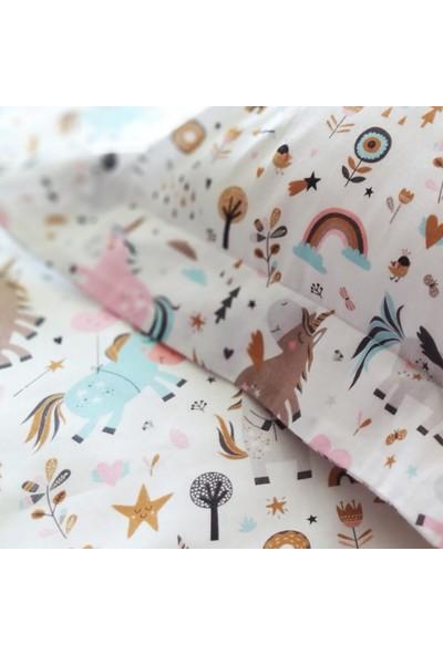Blue & Pink Unicorn Bebek Nevresim Takımı