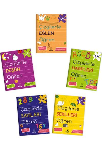 Floki Çocuk 4-5 Yaş Çizgilerle Öğren Serisi 5 Kitap