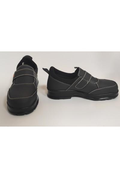 DOZER SHOES Çelik Burunlu Iş Ayakkabısı Su Geçirmez Cırtlı Siyah