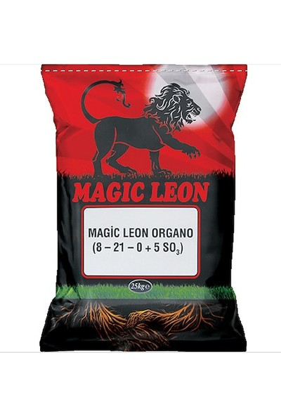 Organiksa Gübre Magic Leon 8-21-0+ 5 So3 25 kg